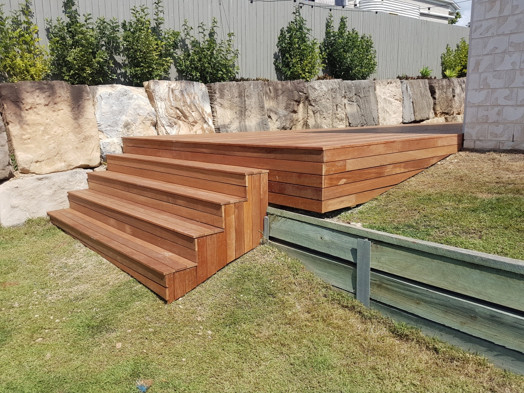 Levels of decking