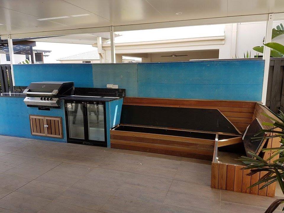BBQ kitchen decking